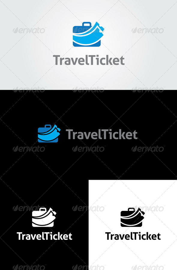 Travel Ticket Logo Template