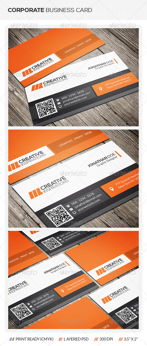 GraphicRiver Corporate Business Card 6511245