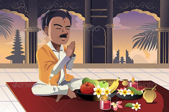 GraphicRiver Hindu Praying 6511250