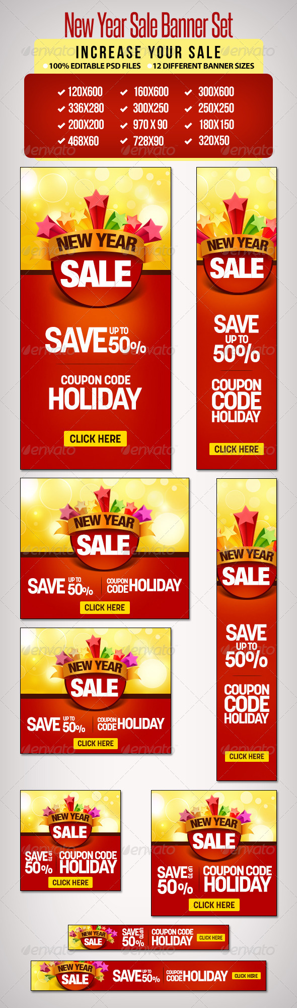 GraphicRiver New Year Sale Banner Set 2 12 Sizes 6511275