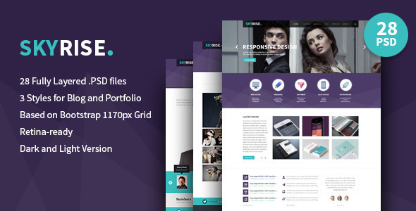 Skyrise - Business PSD Template - Business Corporate