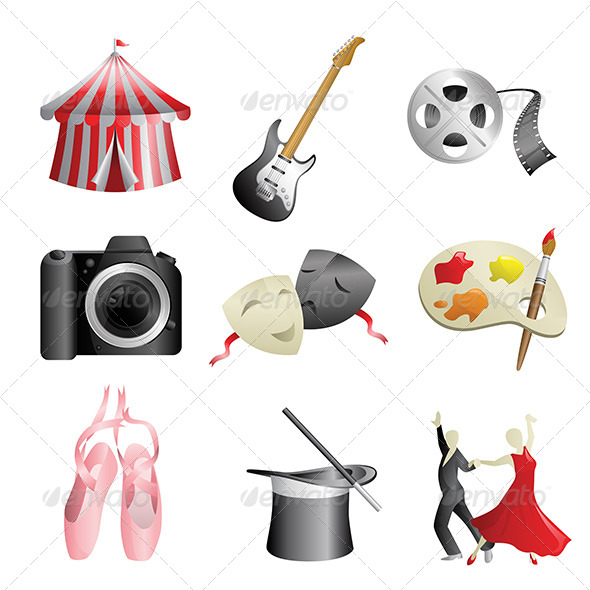 GraphicRiver Arts Entertainment Icons 6511376