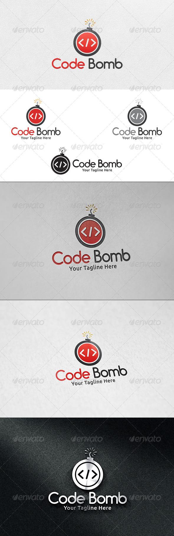 GraphicRiver Code Bomb V2- Logo Template 6511432