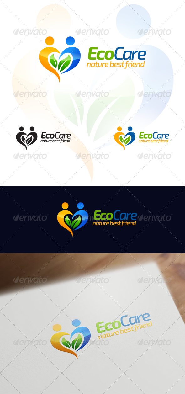 GraphicRiver Eco Care Natural & Wellness Logo Design 6511436