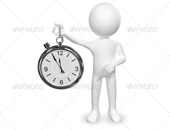 GraphicRiver Man with Clock 6511527