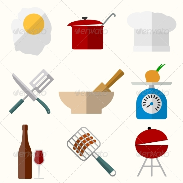 GraphicRiver Cooking Icons 6511565