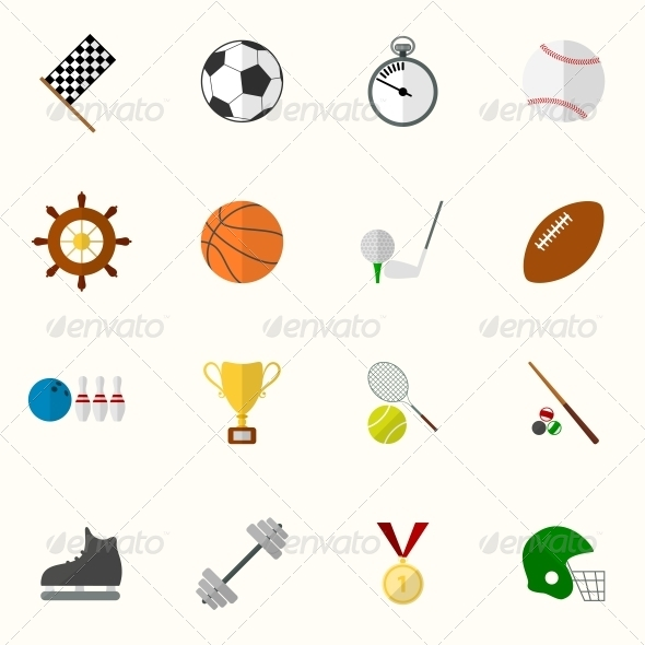 GraphicRiver Set of Flat Sport Icons 6511572