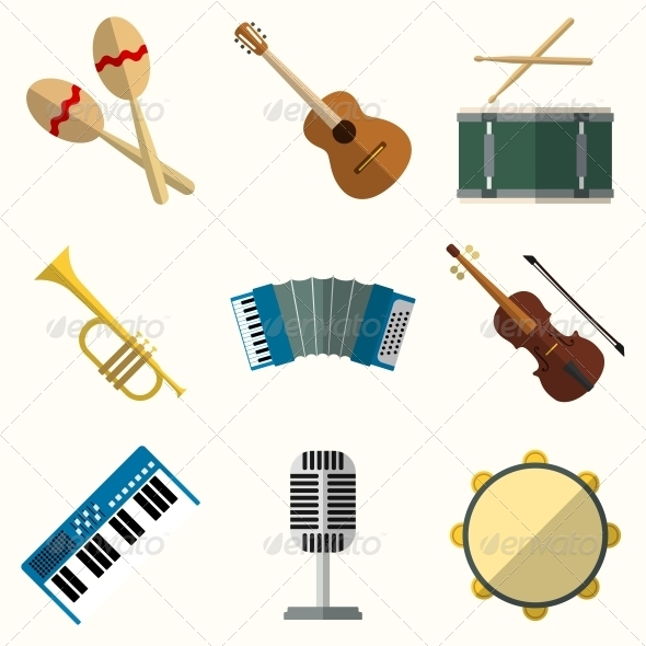 GraphicRiver Icons of Musical Equipment 6511573