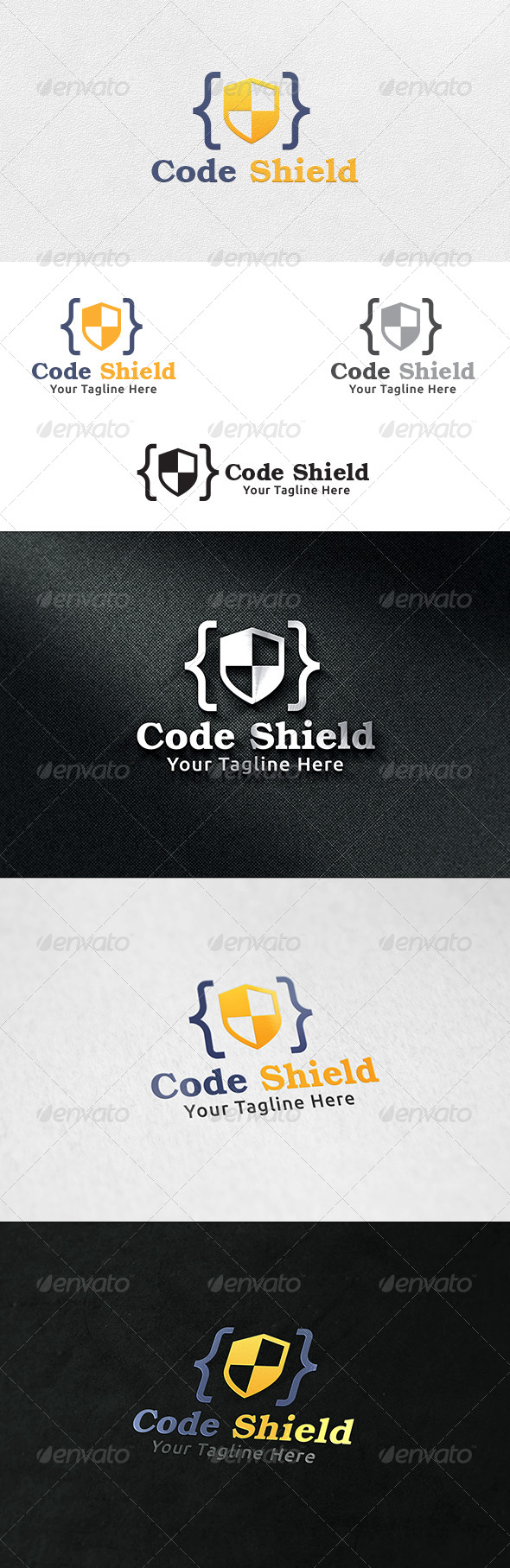 GraphicRiver Code Shield Logo Template 6511920