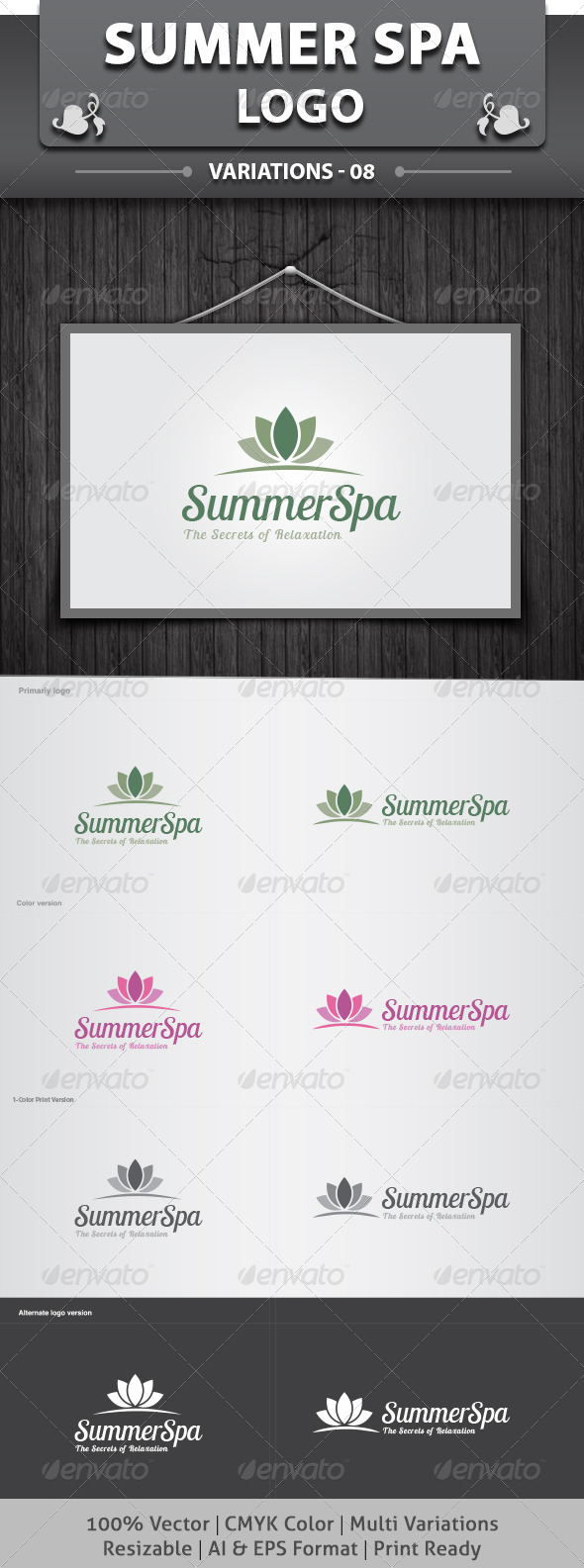 SummerSpa Logo - Nature Logo Templates