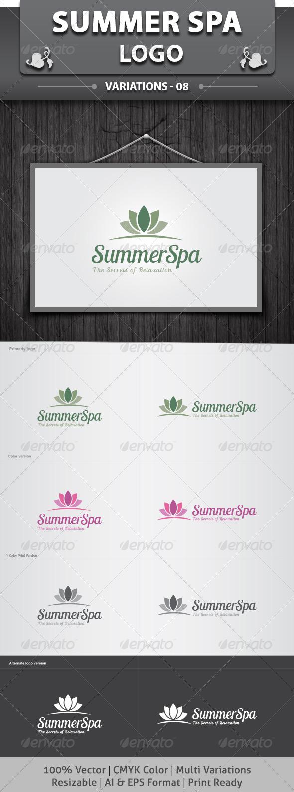 GraphicRiver SummerSpa Logo 6511950