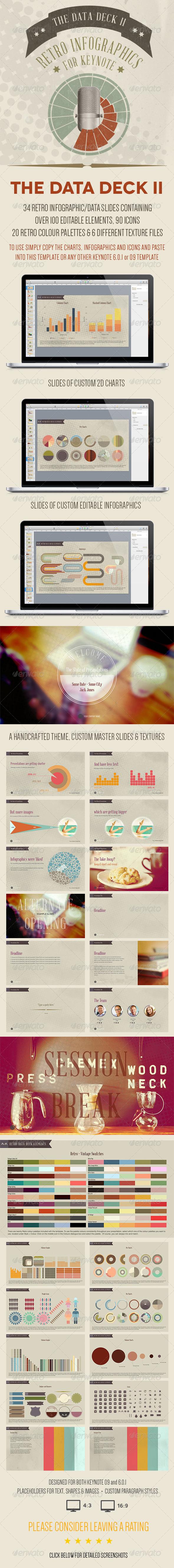 GraphicRiver The Data Deck II Keynote Retro Infographics 6504038