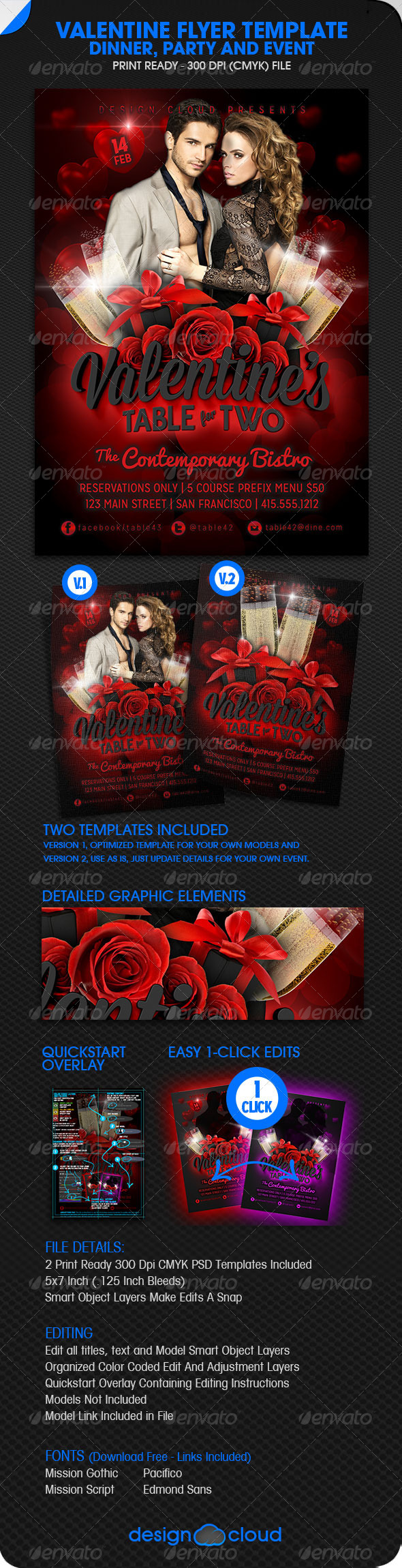 GraphicRiver Valentine Dinner Party and Event Flyer 6512071