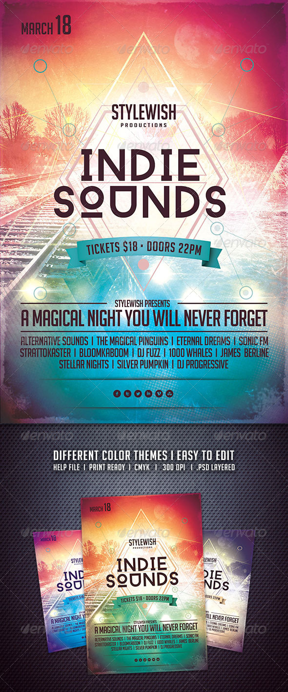 GraphicRiver Indie Sounds Flyer 6512084