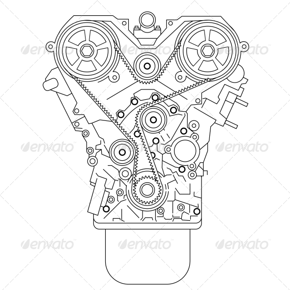 GraphicRiver Internal Combustion Engine 6512130