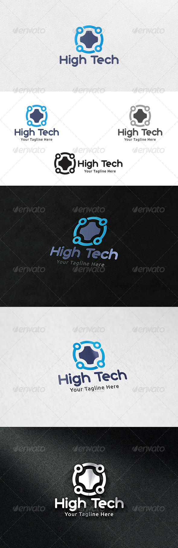 GraphicRiver High Tech Logo Template 6512242