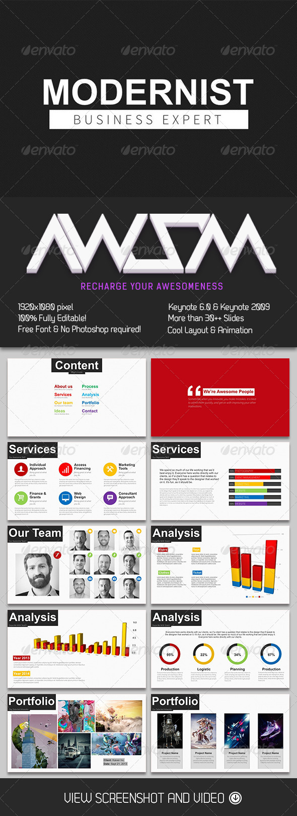 GraphicRiver Modernist Keynote Template 6512336