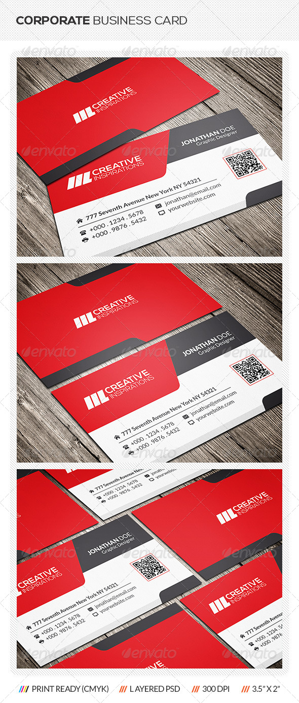 GraphicRiver Corporate Business Card 6512436
