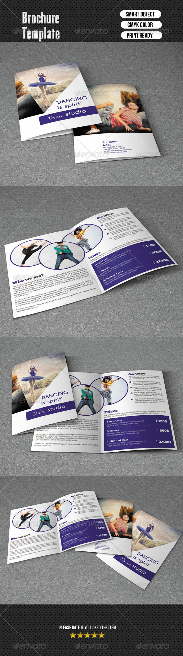 GraphicRiver Bifold Brochure-Dance Studio 6321544