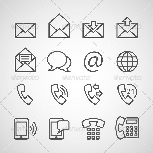 GraphicRiver Communication Icons 6512518