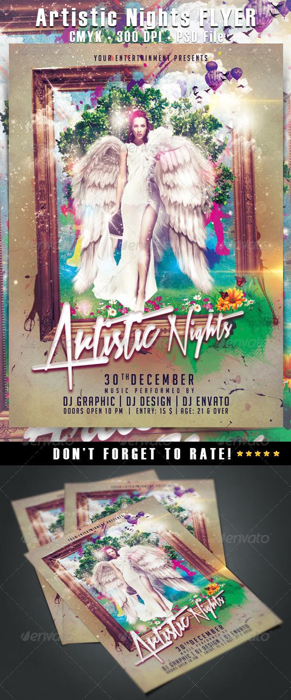 GraphicRiver Artistic Night 6490487