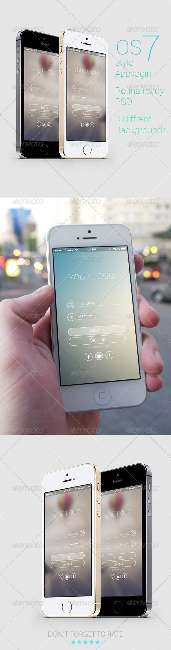GraphicRiver OS 7 Style Phone App login 6481792