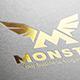 Monster M Letter Logo - GraphicRiver Item for Sale