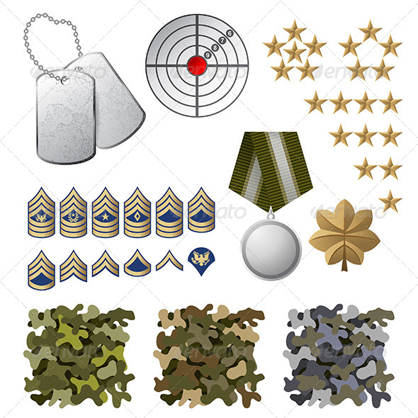 GraphicRiver Military Icons 6512687