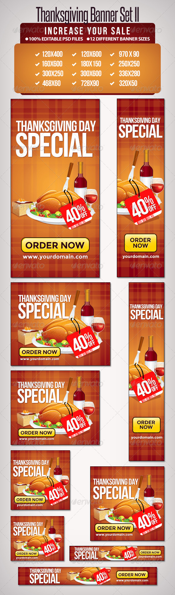 GraphicRiver Thanksgiving Banner Set II 6512719