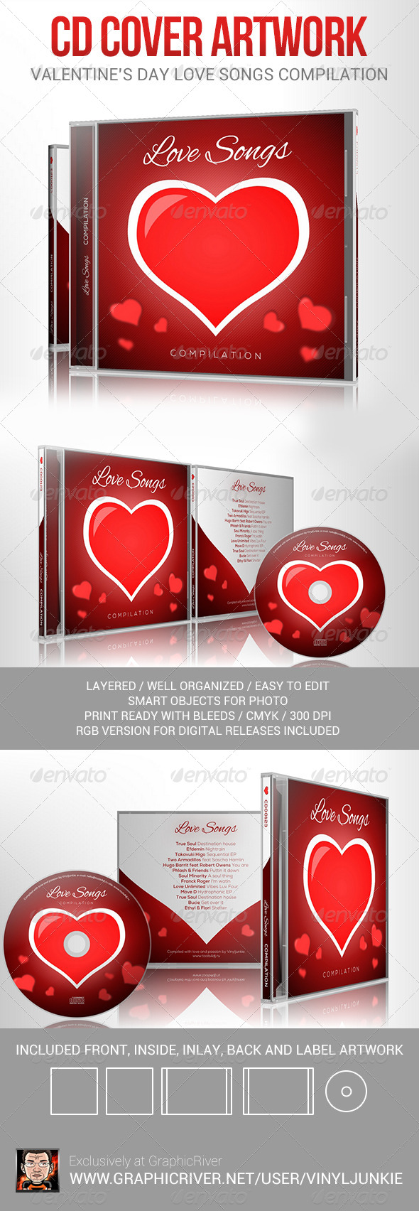 GraphicRiver Love Songs for Valentine s Day CD Cover Artwork 6512774