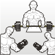 Bodybuilding Stencils - GraphicRiver Item for Sale