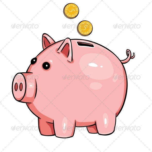 GraphicRiver Cartoon Piggy Bank 6512996