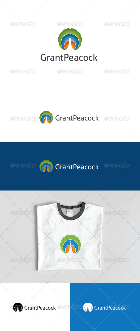 Grant Peacock Logo Template - Animals Logo Templates