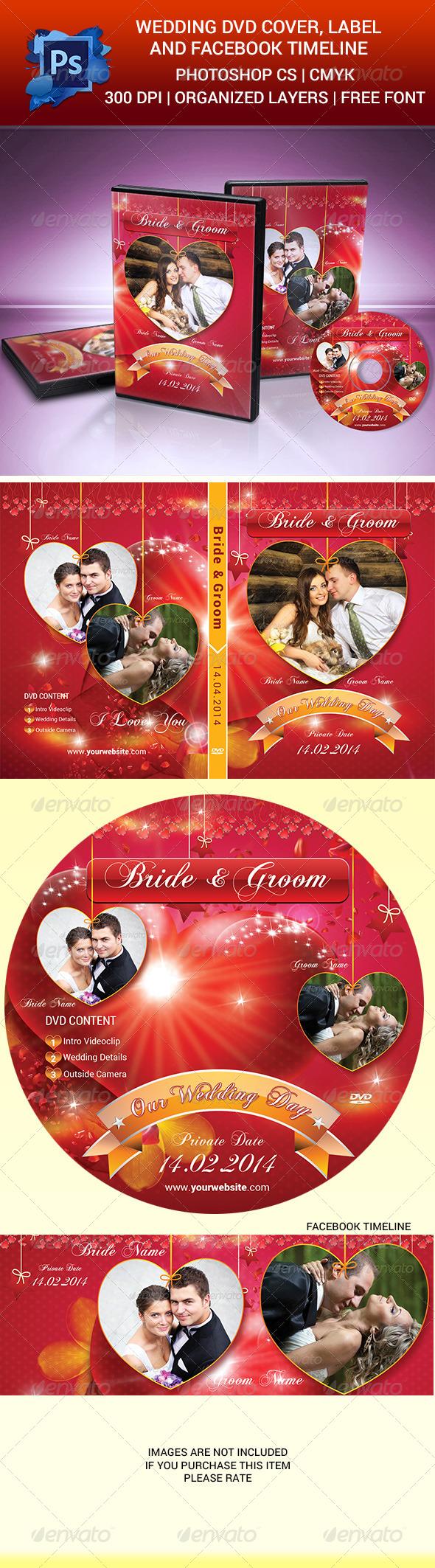 GraphicRiver Wedding DVD Cover Label & Facebook Timeline 6513007