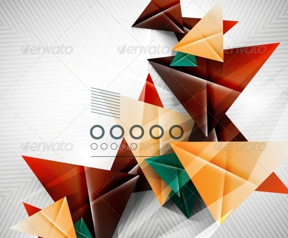 GraphicRiver Geometric Shape Abstract Triangle Background 6513062