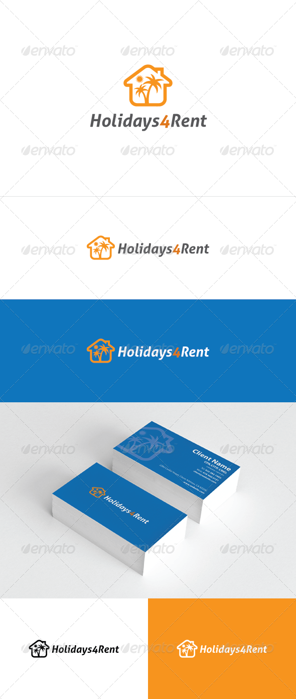 Holidays 4 Rent Logo Template - Vector Abstract