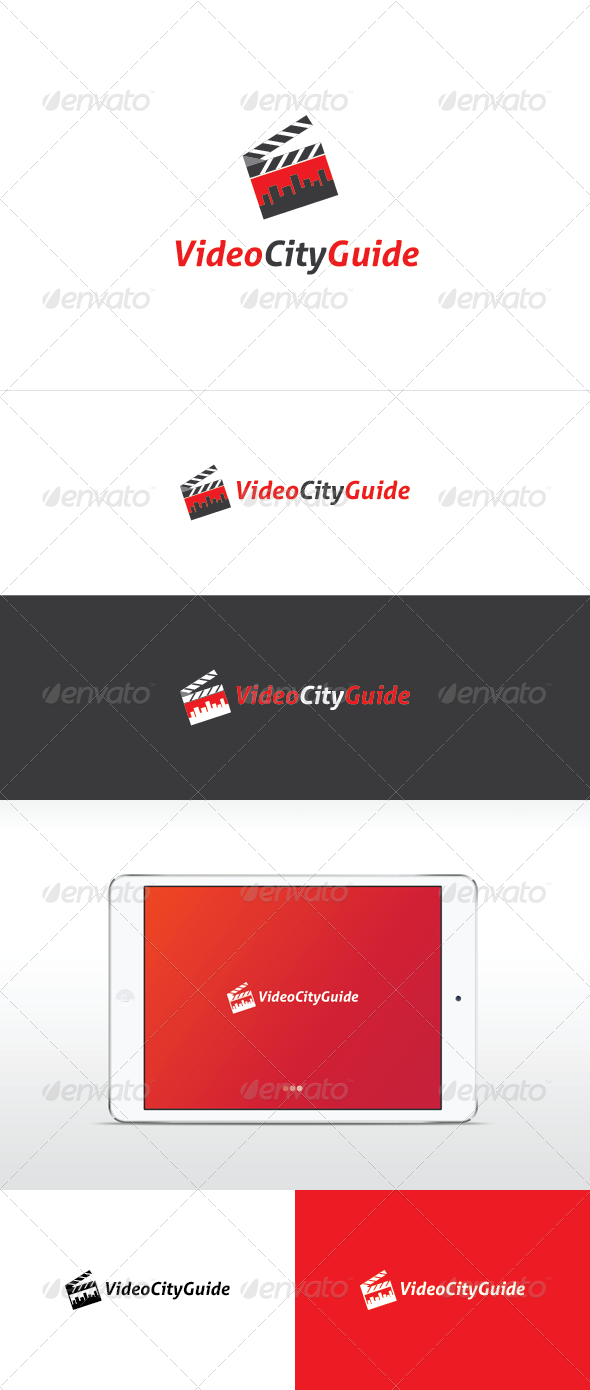Video City Guide Logo Template - Vector Abstract