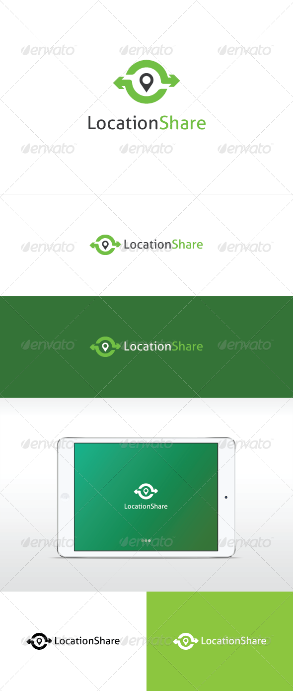 Location Share Logo Template