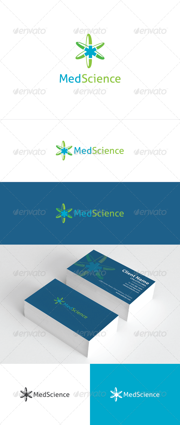 Med Science Logo Template