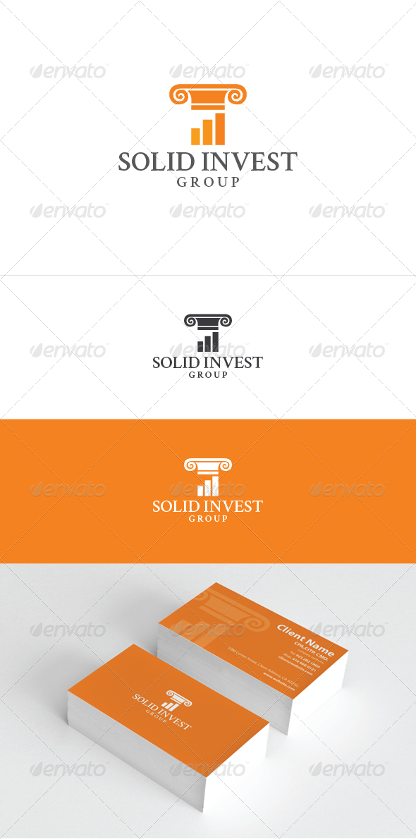 Solid Invest Logo Template - Symbols Logo Templates