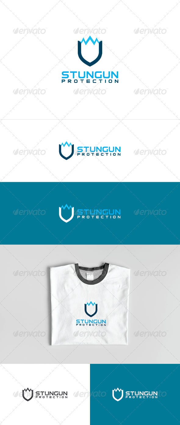 Stun Gun Logo Template - Vector Abstract