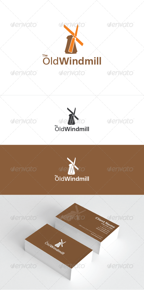 The Old Windmill Logo Template