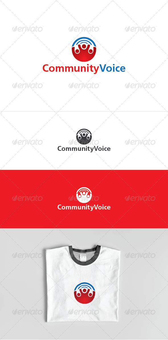 Community Voice Logo Template - Humans Logo Templates