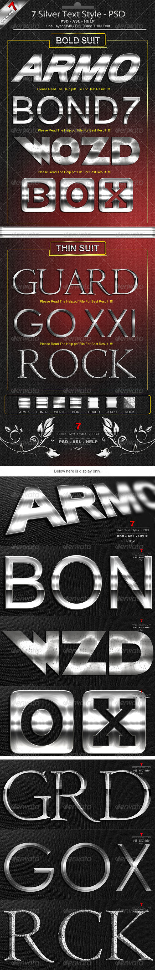 GraphicRiver 7 Silver Text Styles Premium 6487858