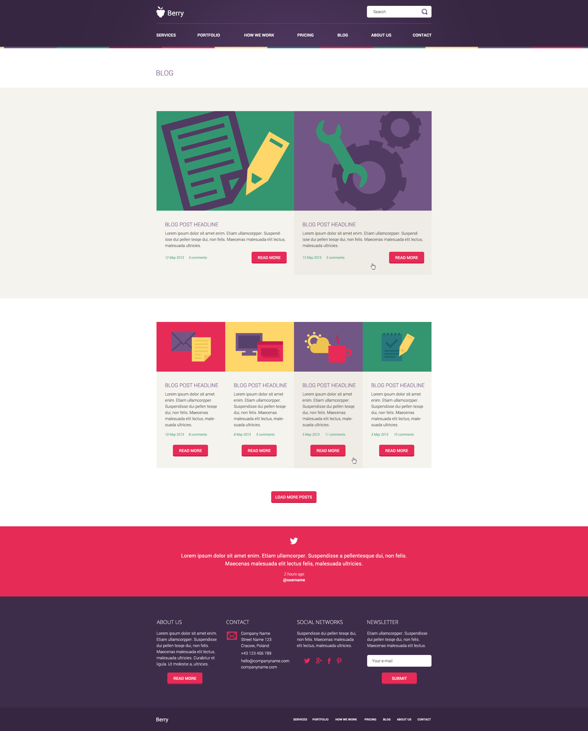 Berry - Illustrated PSD Template