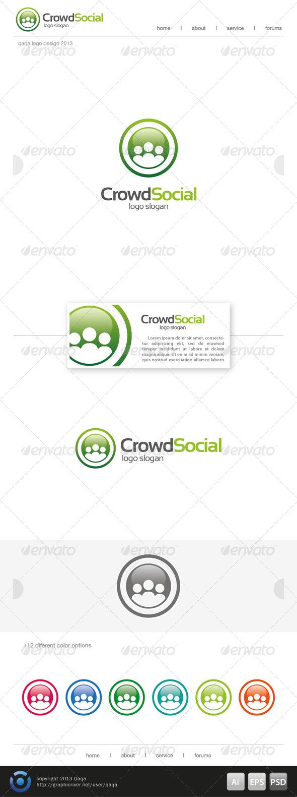 GraphicRiver Crowd Social Logo 6513337