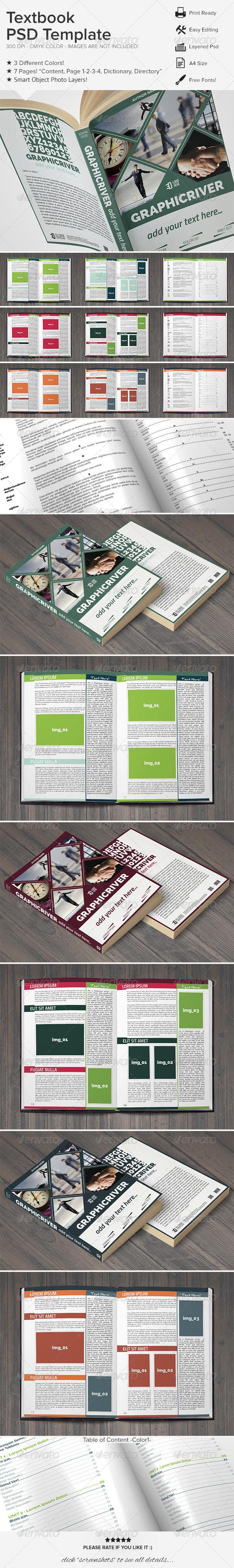 GraphicRiver Textbook PSD Template 6513368