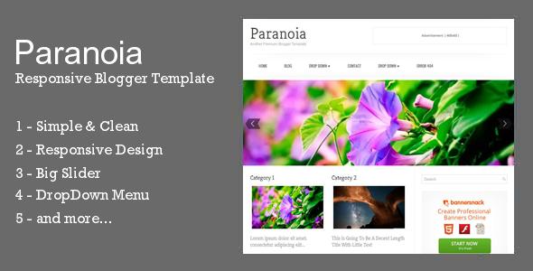 Paranoia Responsive Blogger Template - Blogger Blogging