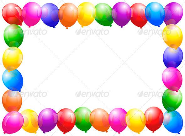 GraphicRiver Balloons Frame 6513595
