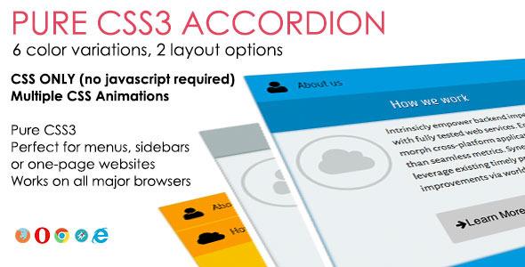 CodeCanyon Pure CSS3 Accordion 6513680